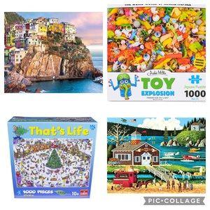 Bundle of Four (4) Assorted 1000 PCs Puzzles